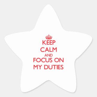 Guarde la calma y el foco en mis deberes