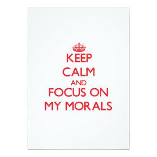 Guarde la calma y el foco en mis moralejas invitacion personal