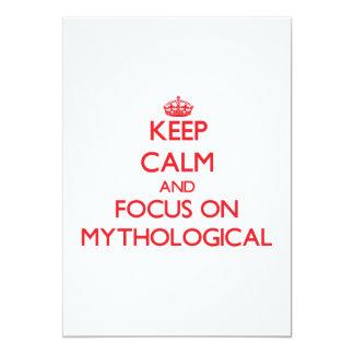 Guarde la calma y el foco en mitológico invitación