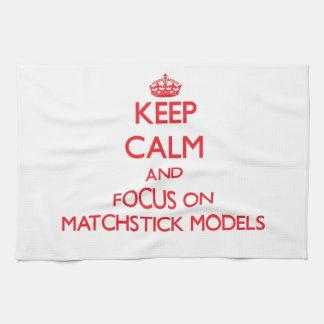 Guarde la calma y el foco en modelos del Matchstic Toalla De Mano
