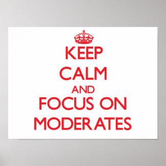 Guarde la calma y el foco en Moderates Poster