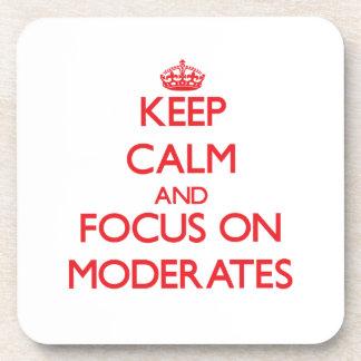 Guarde la calma y el foco en Moderates Posavasos De Bebidas