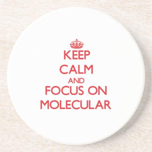 Guarde la calma y el foco en molecular posavaso para bebida