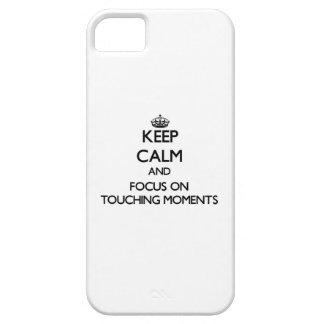 Guarde la calma y el foco en momentos conmovedores iPhone 5 carcasa