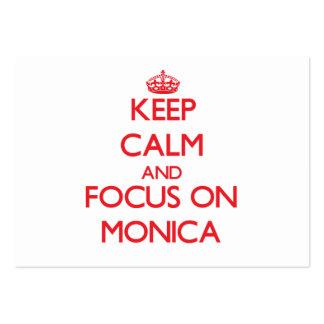 Guarde la calma y el foco en Mónica Plantilla De Tarjeta Personal