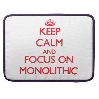 Guarde la calma y el foco en monolítico fundas para macbooks