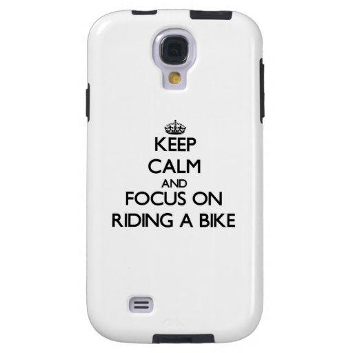 Guarde la calma y el foco en montar una bici