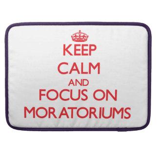 Guarde la calma y el foco en moratorias fundas macbook pro