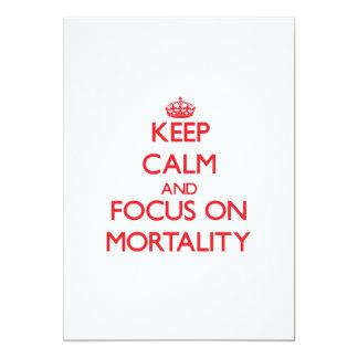 Guarde la calma y el foco en mortalidad anuncio