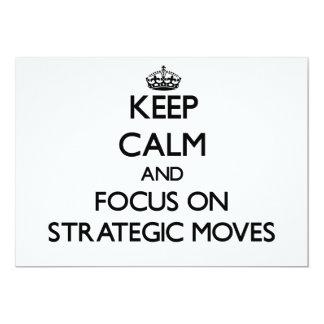 Guarde la calma y el foco en movimientos