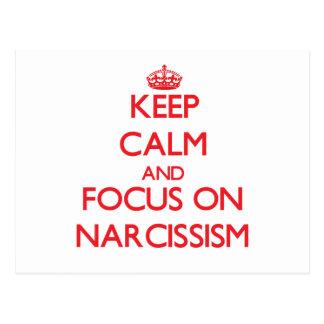 Guarde la calma y el foco en narcisismo postal