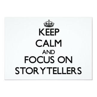 """Guarde la calma y el foco en narradores invitación 5"""" x 7"""""""