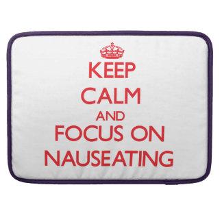 Guarde la calma y el foco en Nauseating Fundas Macbook Pro