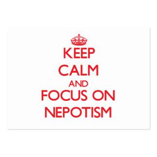 Guarde la calma y el foco en nepotismo