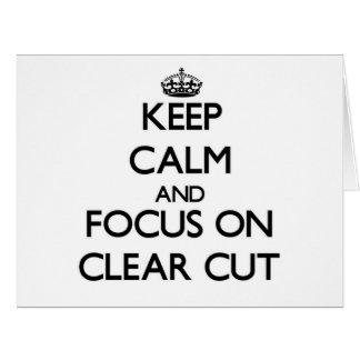 Guarde la calma y el foco en neto