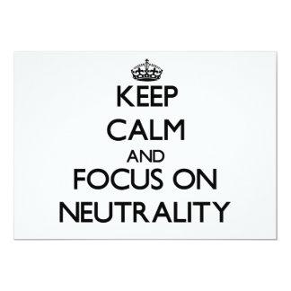 Guarde la calma y el foco en neutralidad comunicado personalizado