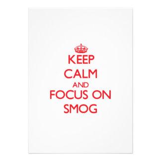 Guarde la calma y el foco en niebla con humo invitación personalizada