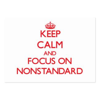 Guarde la calma y el foco en no estándar