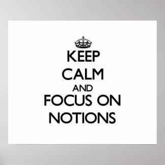 Guarde la calma y el foco en nociones