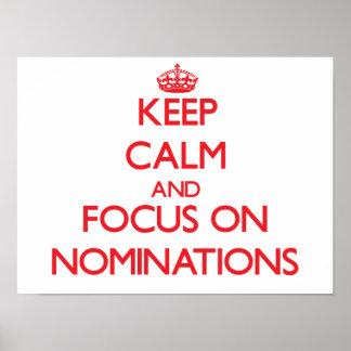 Guarde la calma y el foco en nombramientos