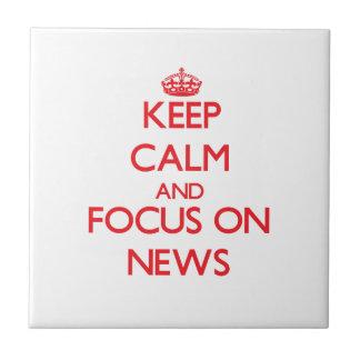 Guarde la calma y el foco en noticias tejas