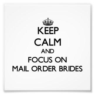 Guarde la calma y el foco en novias del pedido por