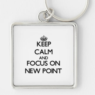Guarde la calma y el foco en nuevo punto llaveros