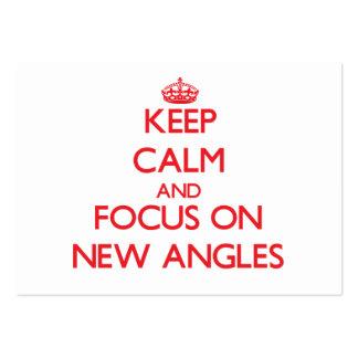 Guarde la calma y el foco en NUEVOS ÁNGULOS