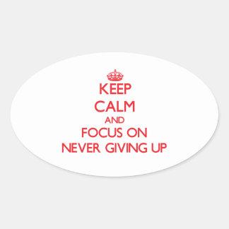 Guarde la calma y el foco en nunca el donante para