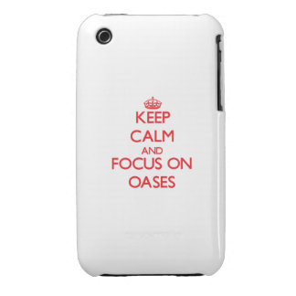 Guarde la calma y el foco en oasis iPhone 3 fundas