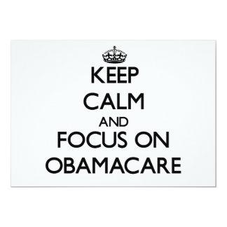 Guarde la calma y el foco en Obamacare Anuncio Personalizado