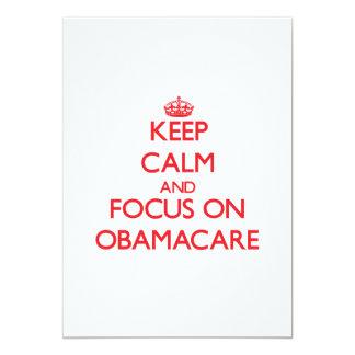 Guarde la calma y el foco en Obamacare Comunicado