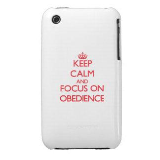 Guarde la calma y el foco en obediencia