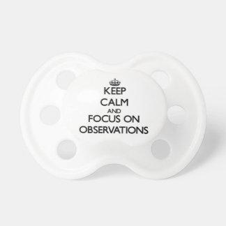 Guarde la calma y el foco en observaciones