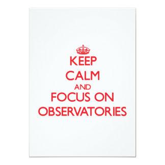 Guarde la calma y el foco en observatorios comunicados personales