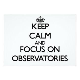 Guarde la calma y el foco en observatorios comunicados