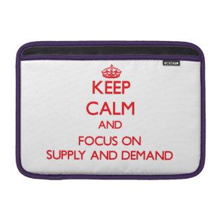 Guarde la calma y el foco en oferta y demanda funda para macbook air