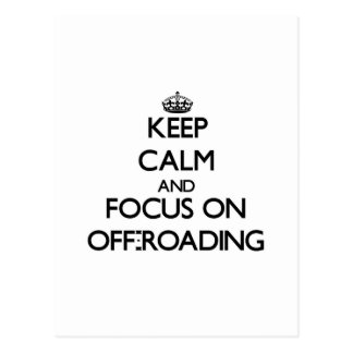 Guarde la calma y el foco en Off-Roading Postales