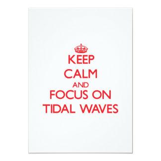 Guarde la calma y el foco en ondas de marea comunicado personalizado