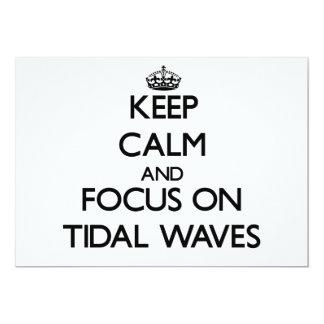 Guarde la calma y el foco en ondas de marea anuncios personalizados