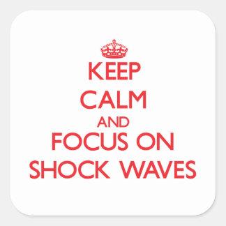 Guarde la calma y el foco en ondas expansivas