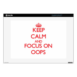 guarde la calma Y EL FOCO EN oOPS 38,1cm Portátil Calcomanía