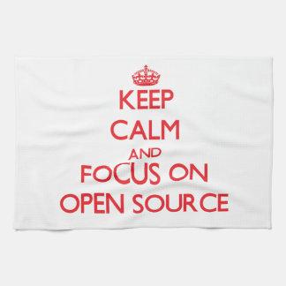 Guarde la calma y el foco en Open Source Toallas