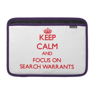 Guarde la calma y el foco en órdenes de registro fundas macbook air