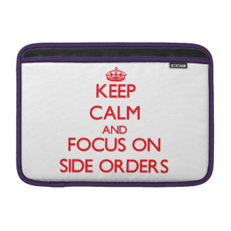 Guarde la calma y el foco en órdenes laterales funda para macbook air