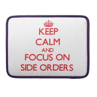 Guarde la calma y el foco en órdenes laterales fundas para macbook pro