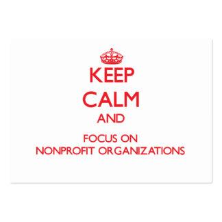 Guarde la calma y el foco en organizaciones sin tarjetas de visita grandes
