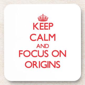 Guarde la calma y el foco en orígenes