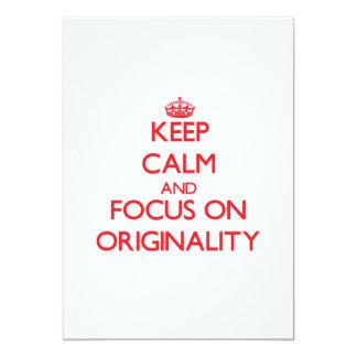 guarde la calma Y EL FOCO EN originalidad Invitacion Personalizada