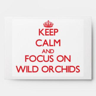 Guarde la calma y el foco en orquídeas salvajes
